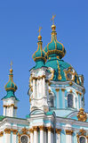 Saint Andrew orthodox church by Rastrelli in Kyiv Royalty Free Stock Photo