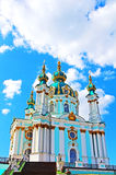 Saint Andrew orthodox church by Rastrelli Stock Images