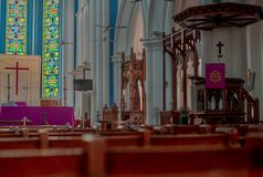 Saint Andrew s Anglican Cathedral Singapore stock photo