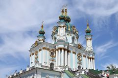 Saint Andrew's Church in  Kiev Royalty Free Stock Photo