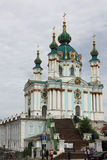 The Saint Andrew's Church in Kiev Stock Photography