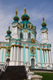 The Saint Andrew`s Church Kiev Ukraine. The Saint Andrew`s Church is a major Baroque church located in Kiev, the capital of Ukraine. The church was constructed stock image