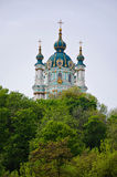 The Saint Andrew`s Church Kiev Ukraine Stock Photos