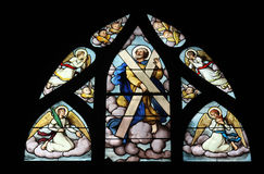 Saint Andrew. Stained glass, Saint Severin church, Paris, France Royalty Free Stock Photos