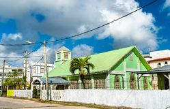 St. Andrew Presbyterian Church in Belize City. Saint Andrews Presbyterian Church in Belize City, Belize royalty free stock photo