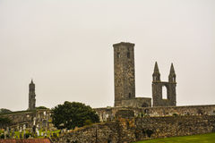 Saint Andrews. Ruins in Saint Andrews. Scotland royalty free stock image