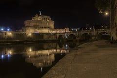 Saint'angel замка в Риме Стоковые Изображения RF