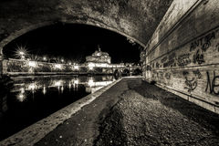 Saint'angel замка в Риме Стоковая Фотография RF