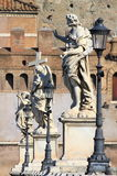 Saint Angel bridge in Rome Stock Images