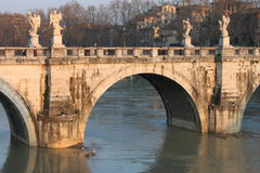 Saint Angel bridge in Rome Royalty Free Stock Images