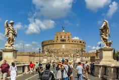 Saint Angel Castel, Roma foto de stock royalty free