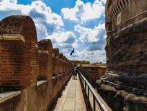 Saint Angel Castel, Rome. stock photo