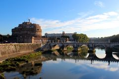 Saint Angel Castle and bridge Stock Image