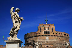 Saint Angel castle. From the bridge. Rome, Italy Stock Photo
