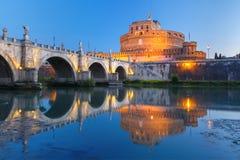 Saint Angel castle and bridge, Rome, Italy Stock Photography