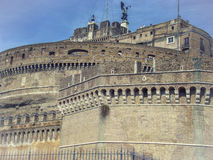 Saint angel castle-Caste sant'Angelo in Rome. Look at the palace, which has an important historical legacy in history of Royalty Free Stock Image