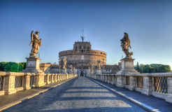 Saint Angel Castle (Castel Sant Angelo) Rome images libres de droits