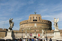 Saint Angel Castle in Rome Stock Photos