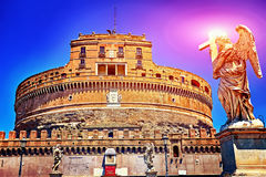 Saint Angel Castle in Rome, Italy Royalty Free Stock Photo