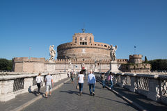 Saint Angel castle in Rome Stock Photo