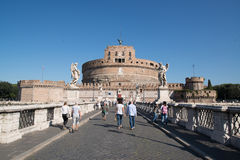 Saint Angel castle in Rome Royalty Free Stock Photography