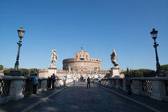 Saint Angel castle in Rome Stock Images
