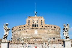 Saint Angel castle in Rome Royalty Free Stock Photos