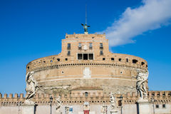 Saint Angel castle in Rome Royalty Free Stock Images