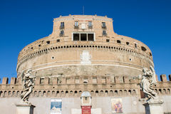 Saint Angel castle in Rome Royalty Free Stock Image