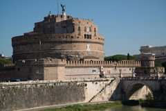 Saint Angel castle in Rome. View on famous Saint Angel castle in Rome, Italy stock photos