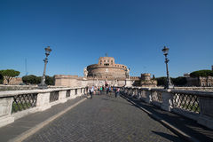 Saint Angel castle in Rome Stock Image