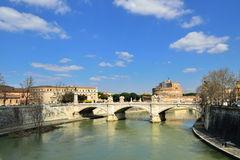 Tiber river in Rome Royalty Free Stock Photo