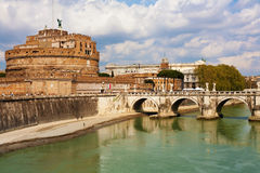 Saint Angel Fortress, Rome Stock Photo
