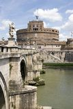 Saint angel's bridge and saint angel's castle Royalty Free Stock Photography