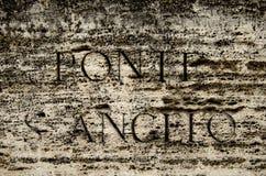 Saint angel's bridge Stock Photos