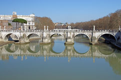 Saint Angelo bridge Royalty Free Stock Photography