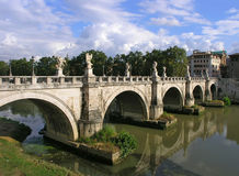 Saint Angelo bridge. Sant Angelo bridge over the Tiber river. Rome, Italy Stock Photo