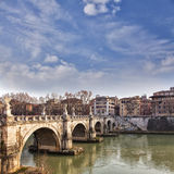 Saint Angelo bridge Rome Royalty Free Stock Photo