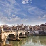 Saint Angelo bridge Rome Royalty Free Stock Photo