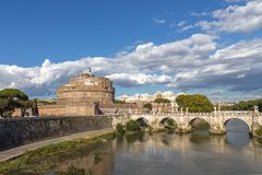 Saint Angelo castle and bridge Stock Image