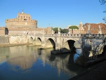 Saint Angelo castle Rome Italy royalty free stock photography