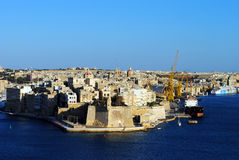 Saint Angelo Fort. Fort St Angelo is a large fortification in Birgu, Malta, right at the centre of Grand Harbour. The date of its original construction is Stock Photos
