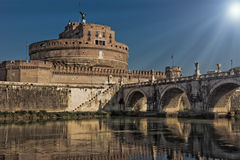 Saint Angels Castle in Rome Stock Image