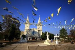 Saint Ann, Nongsaeng Church Nakhon Phanom. It is a beautiful church in Nakhon Phanom. Located along the Mekong River stock images