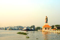 Saint Anna statue by the river Stock Image