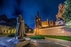 Saint Anne Church in Vilnius, Lithuania. And monument to the poet Adam Mickiewicz Royalty Free Stock Photos
