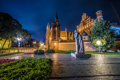 Saint Anne Church in Vilnius, Lithuania. And monument to the poet Adam Mickiewicz Stock Photography