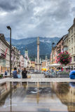 Saint Anne Column in Innsbruck, Austria. Stock Photo