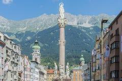 Saint Anne Column in Innsbruck, Austria. Royalty Free Stock Photo