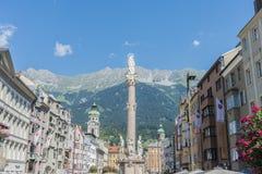 Saint Anne Column in Innsbruck, Austria. Stock Images
